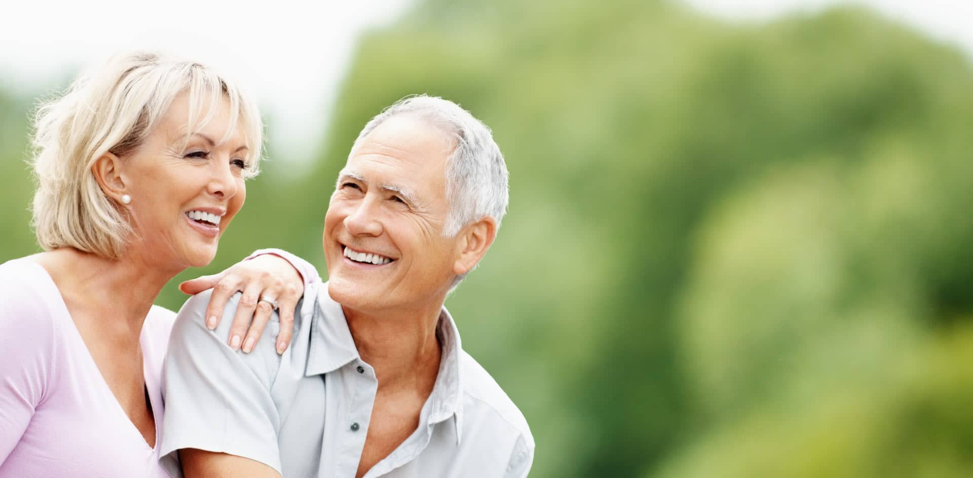 Retired couple enjoying spending time together