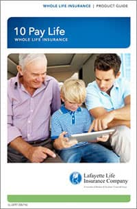 10 Pay Whole Life Insurance Brochure