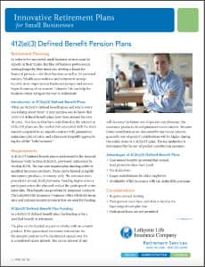412e3 defined benefit plan