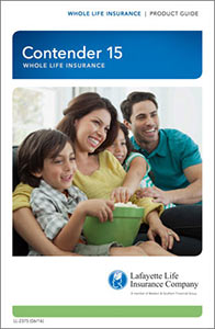 Contender 15 Whole Life Insurance Brochure