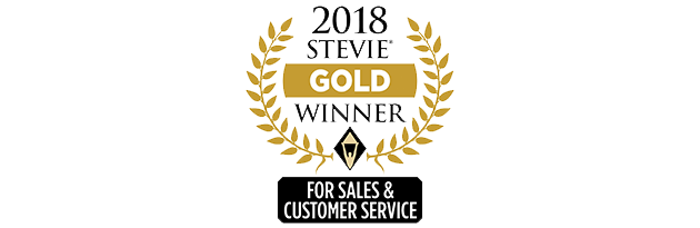 stevie gold customer service winner 2018
