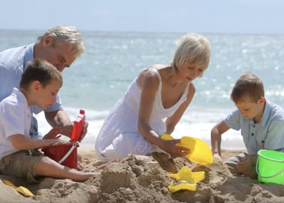 clic living benefits family at beach
