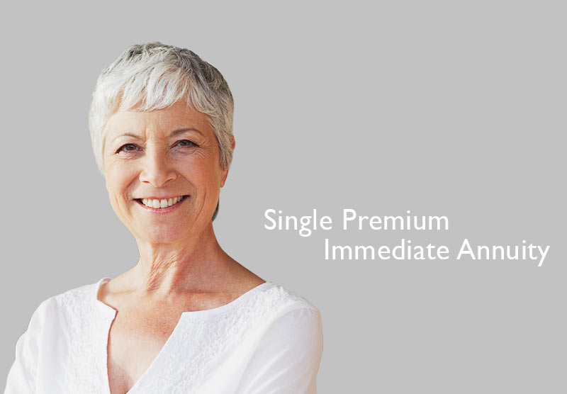 retired elderly woman video to discuss single premium immediate annuity