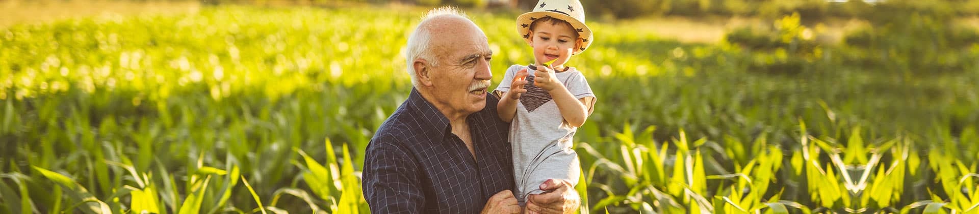 grandfather happy to have life insurance to pass down to grandson