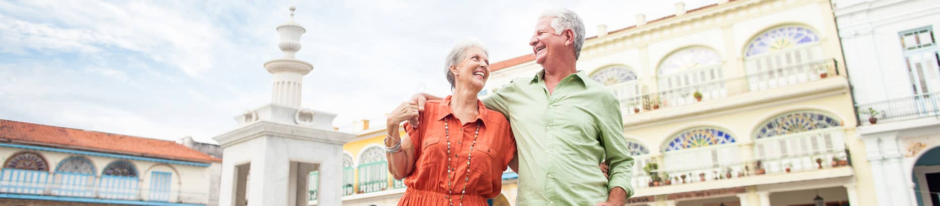 elderly couple enjoying a vacation trip discussing multivantage single premium deferred annuity and annuities