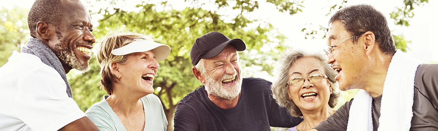 happy senior couples smiling in the park how to plan for retirement