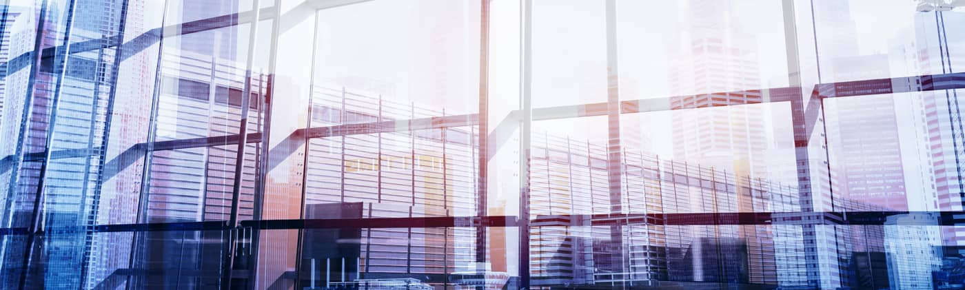 abstract business interior double exposure