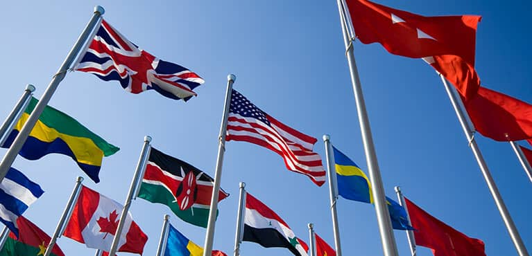 Flags of our countries - does foreign policy matter