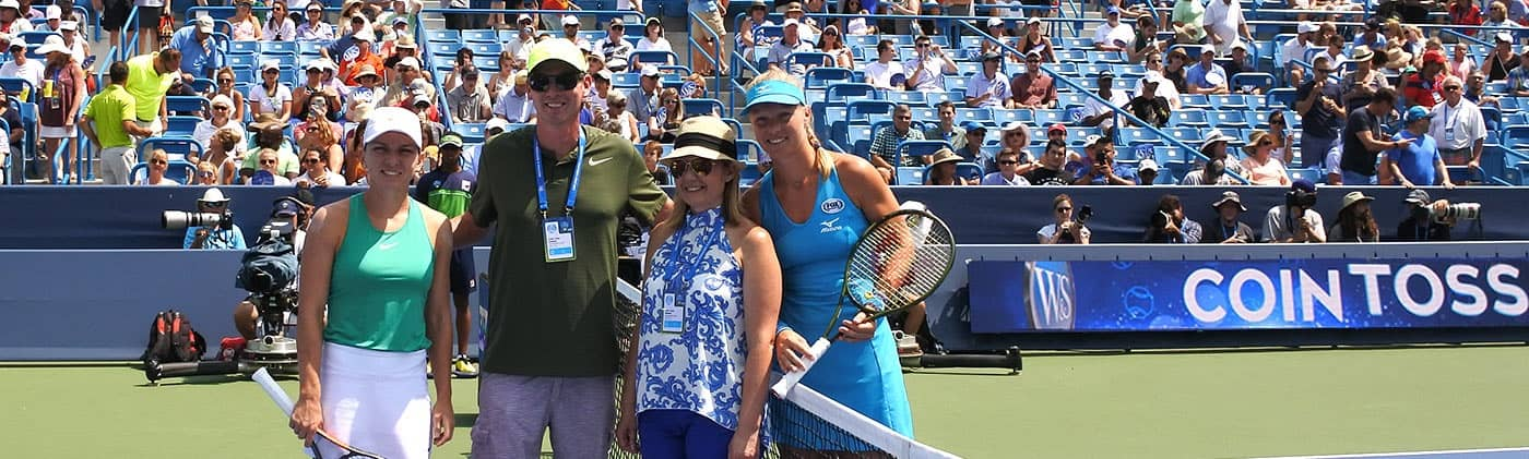 Western and southern open coin toss