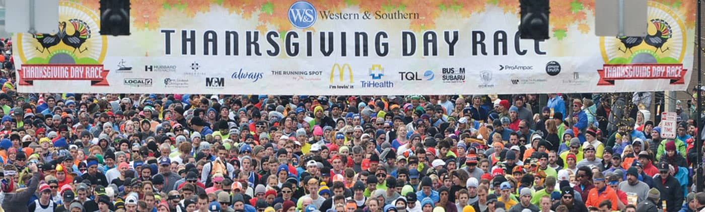 Thanksgiving Day Race starting line