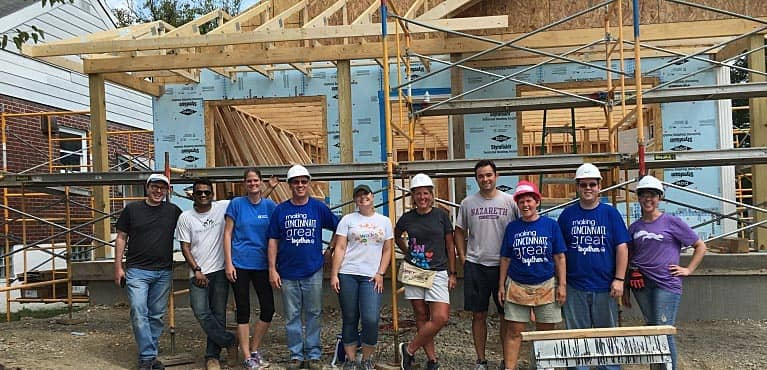 Associates building house for Habitat for Humanity