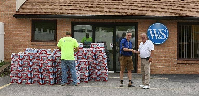 water for flood victims